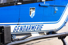 Gendarmerie helicopter Royalty Free Stock Image