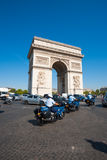 Gendarmerie Riding Arc De Triomphe Royalty Free Stock Image