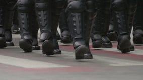 Gendarmerie speciale krachten maart stock video