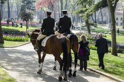 Gendarmes in Istanboel Royalty-vrije Stock Foto's
