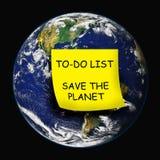 gående green för jordmiljömiljöaktivist Royaltyfri Fotografi