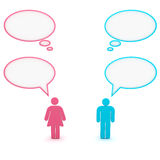 Gender communication Stock Photos