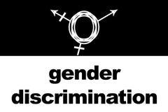 Gender discrimination. Transgender Symbol. On black and white background stock illustration