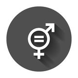 Gender equal sign vector icon. Men and women equal concept icon Stock Image