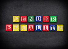 Gender equality concept. In classroom royalty free stock image