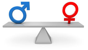 Gender Equality stock illustration