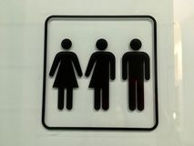 Gender free toilet sign. In Netherlands royalty free stock photo