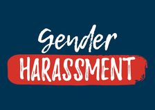 Gender Harassment label. Font with Brush. Equal Rights  Royalty Free Stock Photo
