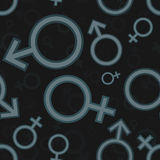 Gender icon pattern Royalty Free Stock Photography