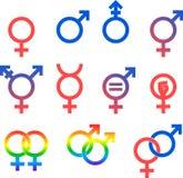 Gender Icon Set Stock Photos