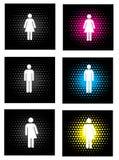 Gender icons Stock Photos