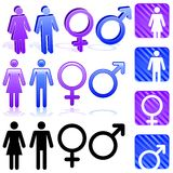 Gender icons Stock Photography