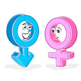 Gender icons Stock Images