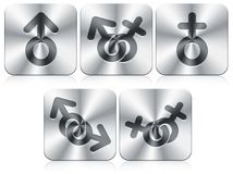 Gender icons Royalty Free Stock Image