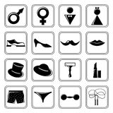 Gender icons set black Stock Image