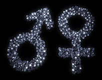 Gender male and female symbols Stock Photo