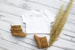 Gender neutral baby bodysuit mockup