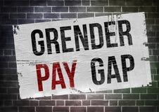 Gender Pay Gap. Poster illustration