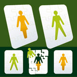Gender puzzle Royalty Free Stock Photo