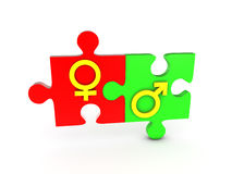 Gender puzzle Royalty Free Stock Photos