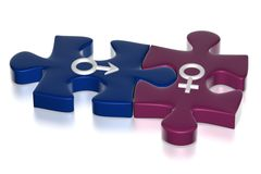 Gender relations concept Stock Image