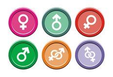 Gender round icon sets stock illustration