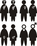 Gender - sexual orientation. Lesbian or gay orientation - black and white icon Royalty Free Stock Photos