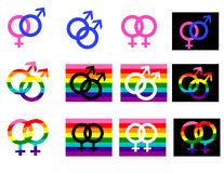 Gender. Signs and icons on a white backgrownd Royalty Free Stock Photography