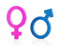 Gender signs Royalty Free Stock Photography
