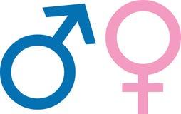 Gender simbols Royalty Free Stock Images