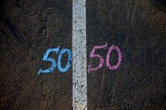 Gender symbol on asphalt, gender concept stock photography