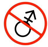 gender symbol. linear symbol. simple transgender icon. not allowed vector illustration