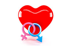 Gender Symbol and Love Royalty Free Stock Image