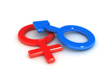 Gender symbol over white background Royalty Free Stock Images