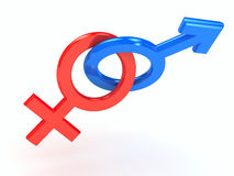 Gender symbol over white background Stock Photos