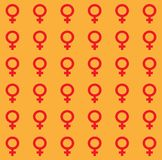 Gender inequality and equality icon symbol. Male Female girl boy woman man transgender icon. Mars vector symbol Stock Images
