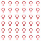 Gender inequality and equality icon symbol. Male Female girl boy woman man transgender icon. Mars vector symbol Stock Photos