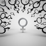 Gender symbols. Royalty Free Stock Images