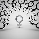 Gender symbols. Royalty Free Stock Images