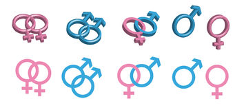 Gender Symbols Stock Photo