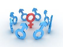 Gender symbols Stock Image
