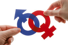 Gender symbols. Male and female gender symbols Stock Photo