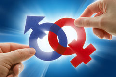 Gender symbols. Male and female gender symbols Stock Images
