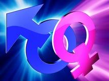 Gender symbols Royalty Free Stock Image