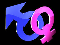 Gender symbols Royalty Free Stock Photos