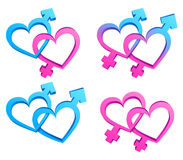 Gender symbols. Royalty Free Stock Photos