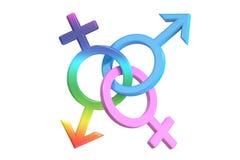 Gender symbols, 3D rendering Stock Photo