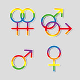 Gender symbols Stock Photography