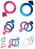 Gender symbols vector illustration