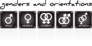 Genders and orientations Royalty Free Stock Photography